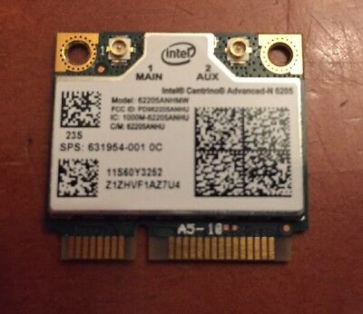 Intel Centrino Advanced-N 6205 Tarjeta WiFi Mini PCIe Half 60Y3253