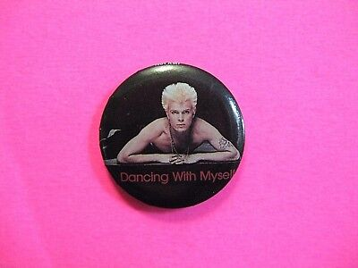 Billy Idol Official 1984 Vintage Button Pin Badge Us Made