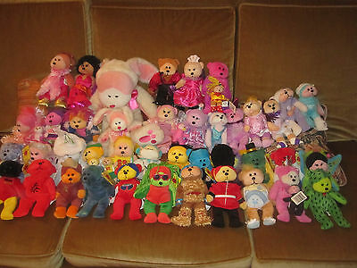 Beanie Kids bulk Lot retired Cuddly Kids Fluffy + 39 Beanie Kids + minis