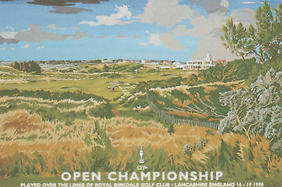 1998 Royal Birkdale - The Open Golf Championship Poster Limited Edition 146/250