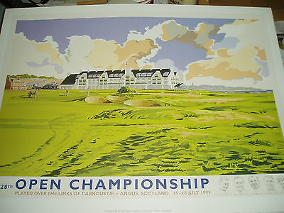 1999 CARNOUSTIE - THE OPEN GOLF CHAMPIONSHIP POSTER - LIMITED EDITION No 107/250