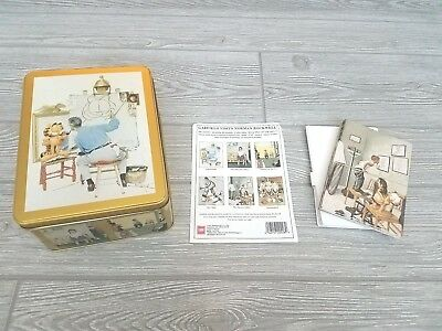 Garfield Paws Norman Rockwell Art Tin Container Case (16) Stationery Jim Davis