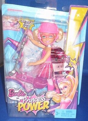 Collector Barbie In Princess Power Kelly Doll And Scooter (Pink), New