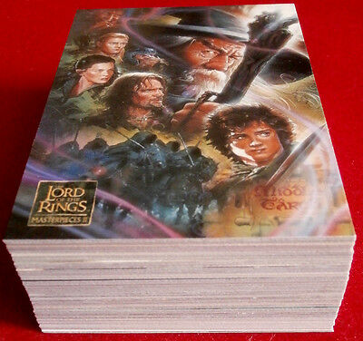 Lord Of The Rings, MASTERPIECES II, COMPLETE BASE SET of 72 cards - Topps 2008