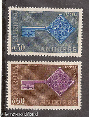 Andorra French  #182-183  Mint Nh  (1705002)