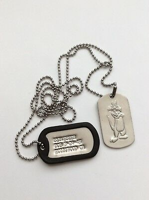 Vintage WB Looney Tunes , Pewter Pendant And Dog Tags 93 W.B. USA Sylvester