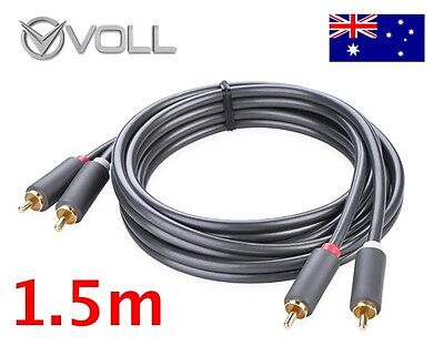 *AU STOCK* High Quality Gold Plated 2xRCA to 2xRCA RCA cable 1.5m 150cm UGREEN