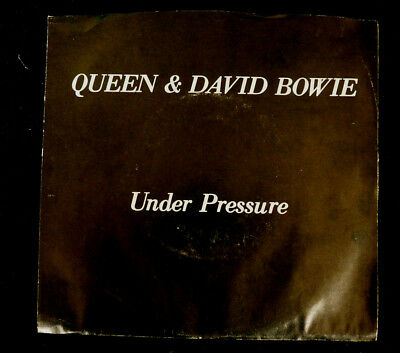 Queen and David Bowie UNDER PRESSURE 45rpm record Rare See Pics