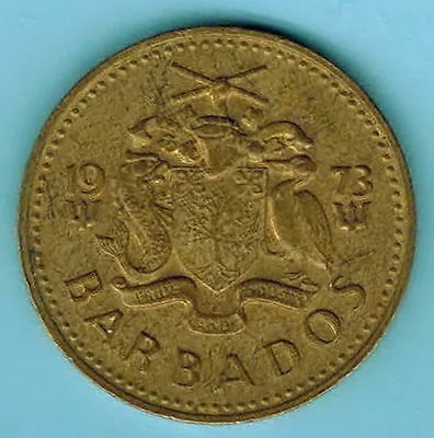 BARBADOS coin 1973 - 5 cent - SOUTH POINT LIGTHHOUSE