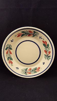 Quimper Ceramic Plate, Henriot Quimper France French