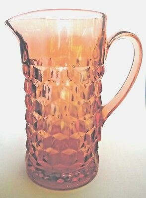 JEANNETTE GLASS / Pink Pitcher / Cube / Cubist (1929-1933)