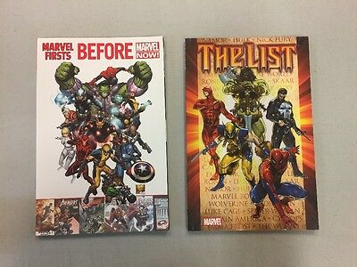 Lot Of Two Tpb Marvel Firsts & The List Spider-Man Wolverine Incredible Hulk