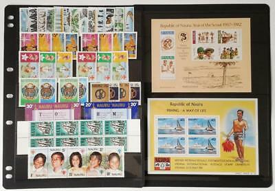 Collection Of Nauru  - Mixed Lot Of 40 Different Mint Stamps