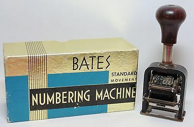 """Vintage AUTOMATIC NUMBERING MACHINE """"The Force"""" Model 150, Bates Box"""