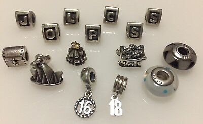Genuine Pandora ALE925 Sterling Silver Charms *** Price is Per Charm ***