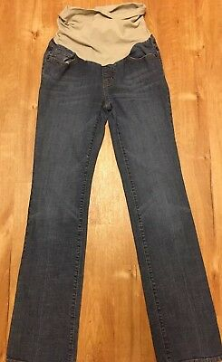 INDIGO BLUE jeans Womens S small Maternity Denim Straight Leg Pants
