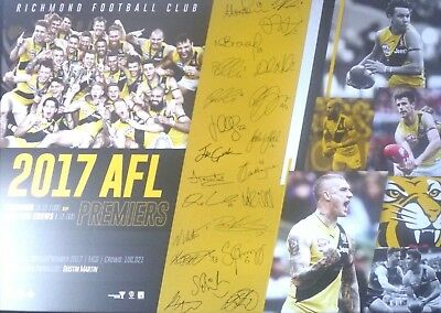 2017 Afl Premiers Richmond Tigers Football Club Premiership Afl Official Poster