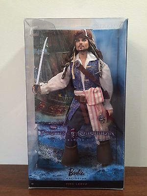 Pirates Of The Caribbean Jack Sparrow Doll Nrfb Mattel Pink Label
