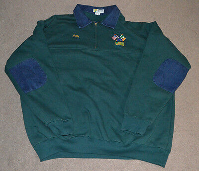 NYPD Emerald Society Sweatshirt 3XL Irish NYC Police Dept Denim Collar & Elbows
