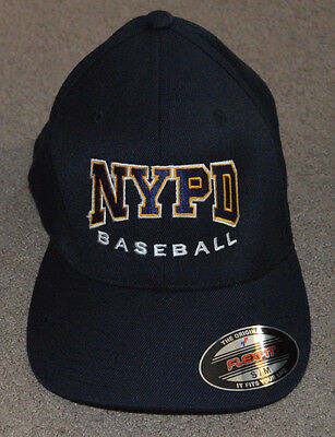 NWOT NYPD Finest Baseball Flex Fit Stretch Fitted Hat S/M
