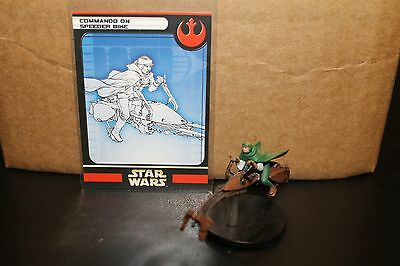 Star Wars Miniatures Rebel Storm Commando on Speeder Bike 04/60 VERY RARE