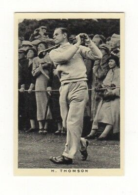 Wills Golf Card. Hector Thomson