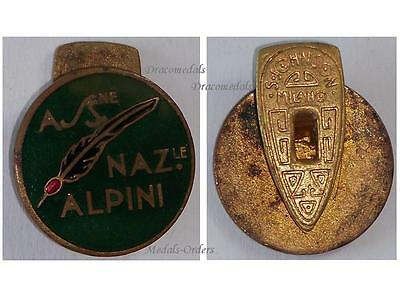 ITaly WW1 Italian National Alpine Association Veterans Badge Military Medal 1919