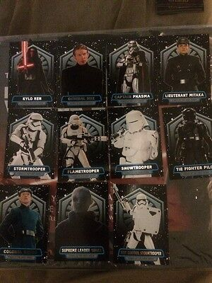 Star Wars Force Awakens Series 2 Power Of The First Order Card Set Of 11