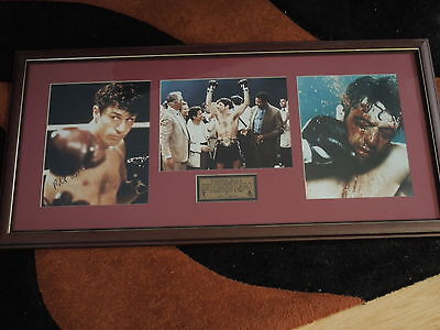 Rare Robert De Niro hand Signed & Framed Raging Bull Movie tribute