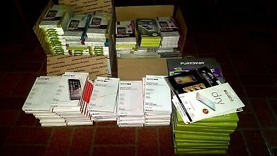 200X Screen Protectors Lot Puregear, Tech21, Zagg, Incipio - Apple, Samsung, HTC