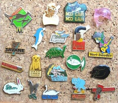 Lot 20 Pin's Différents Animaux Pins Pin / Animal
