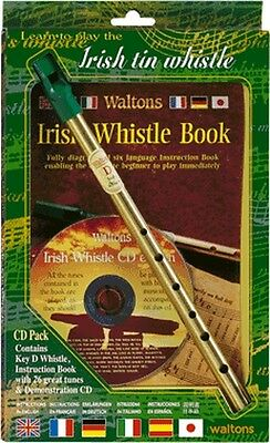 WALTONS Irish Tin Whistle mit Lehrheft & CD
