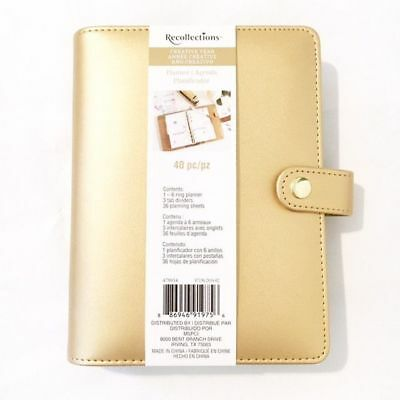 Recollections Plan Michaels  Gold Recollections Creative Year Personal A6 Binder