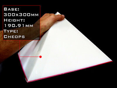 Pyramid Mold, BASE 300mm, Orgone Casting Mold, Cheops Geometry, 8mm HDPE