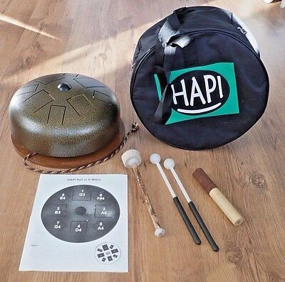 Hapi Drum Bell *Klangschale *Handpan *tankdrum *Steel Tongue Drum inkl. Zubehör