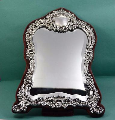 "Art Nouveau Sterling silver Table mirror 13 "" h  H Matthews  Birmingham 1905"
