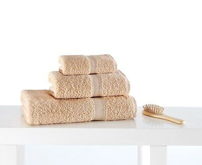 Face Cloth Guest Towels | Terry | Beige | 100% Turkish Cotton & Egyptian Style
