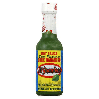 (120ml) - El Yucateco Green Chile Habanero Hot Sauce 4 oz. Huge Saving