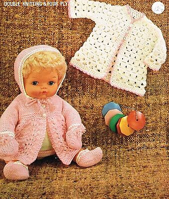 """14 - 15 """"Baby Dolls clothes knitting and crochet pattern. (V Doll 164)"""