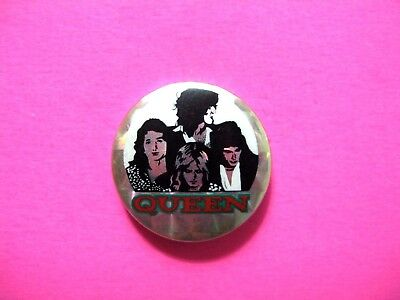Queen Vintage Prismatic Button Badge Pin Uk Import
