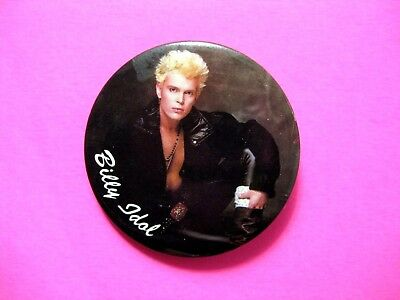 Billy Idol Large Vintage Button Badge Pin Us Made