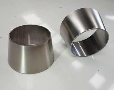 "Exhaust pipe reducer cone 3"" to 2.5"" (75mm to 63.5mm) weld on stainless steel"