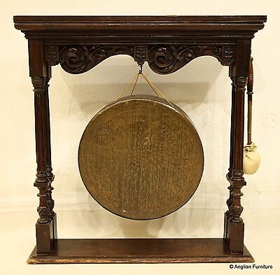 Large Bronze Gong  with Striker (46cm across) Victorian FREE Nationwide Delivery