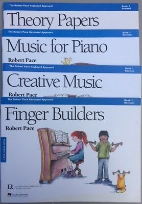 Robert Pace Music for Piano lesson books Level 1, 2, 3, 4 complete set 16