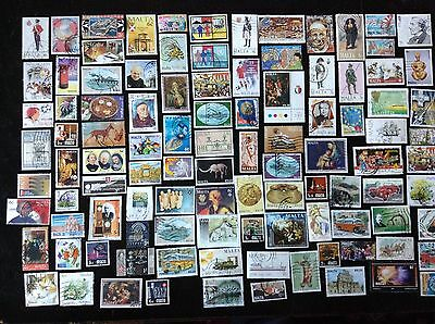 Malta  100  Different Used Stamps Off Paper Incl. Modern