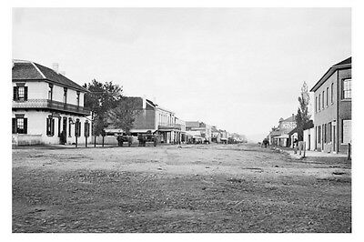 GOULBURN nsw Auburn Street circa 1870-75 modern digital photo Postcard