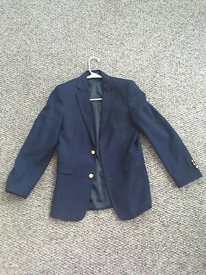 Boys CHAPS Navy Blue w/Gold Buttons Size 14