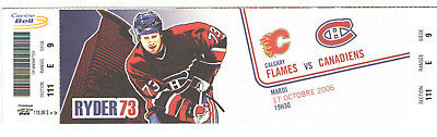 2006-07 MONTREAL CANADIENS NHL HOCKEY TICKET vs FLAMES MICHAEL RYDER