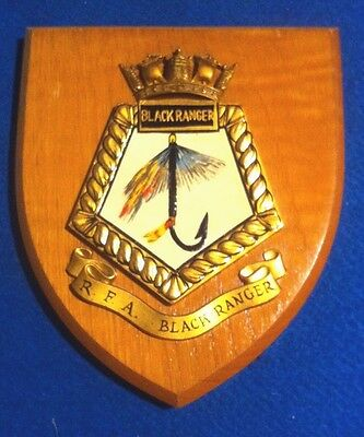 Rfa Black Ranger A163 Royal Navy Fleet Tanker Wall Plaque Excellent Condition
