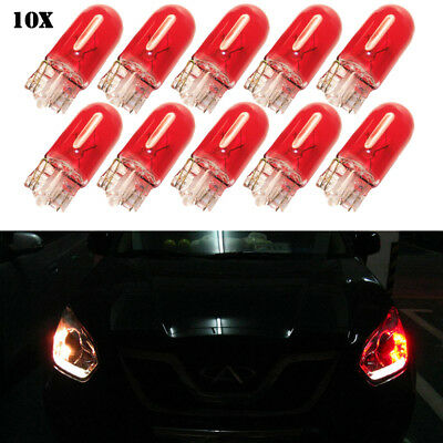 T10 Red Ultra Led Car Light 168 194 2825 W5W Interior Dome Parking lamp Bulbs